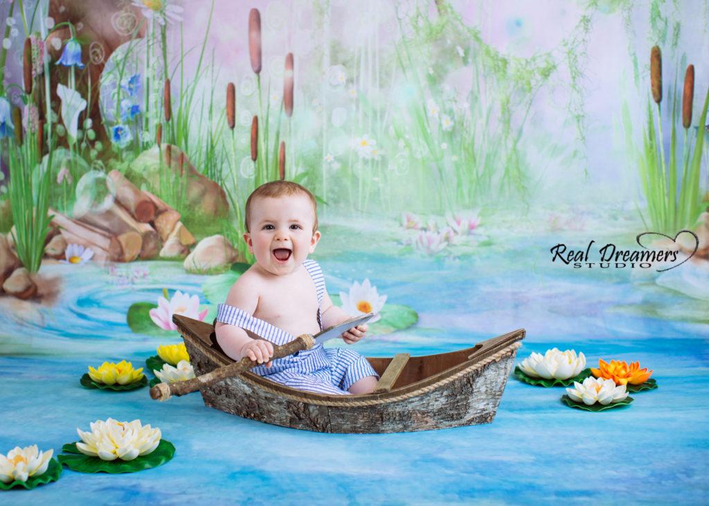 Servizio Fotografico Bambini - loto e barchetta