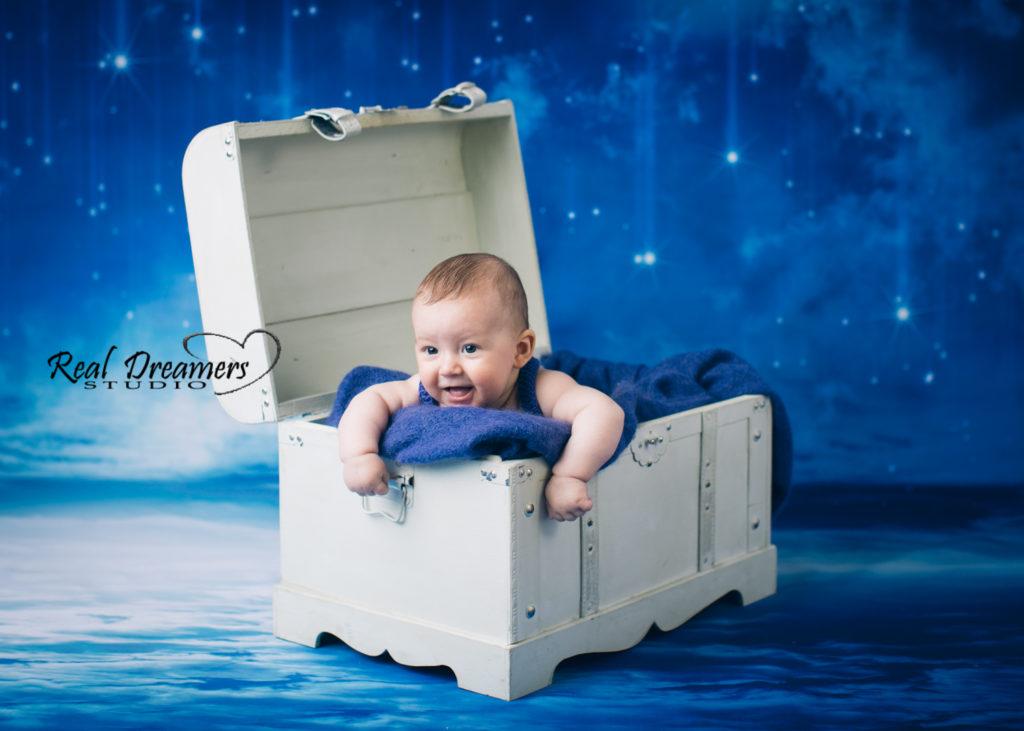 Servizio Fotografico Bebè - scrigno bianco