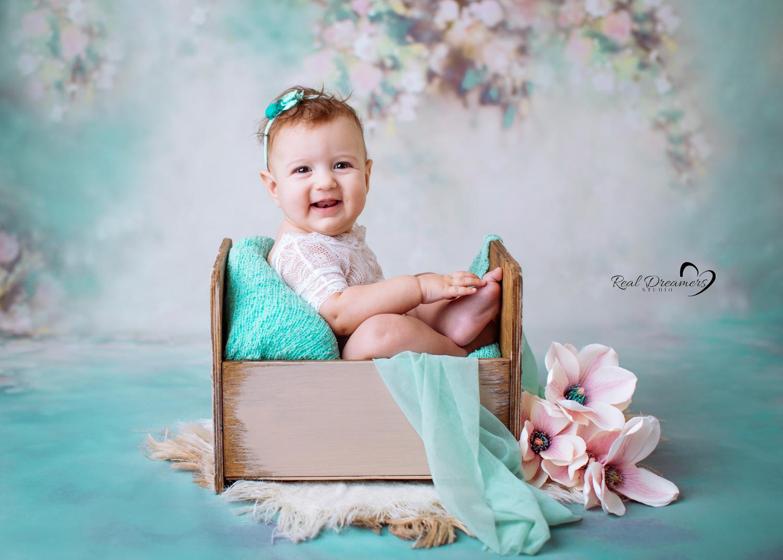 Servizio-Fotografico-Bebè- lettino-fiori-tiffany