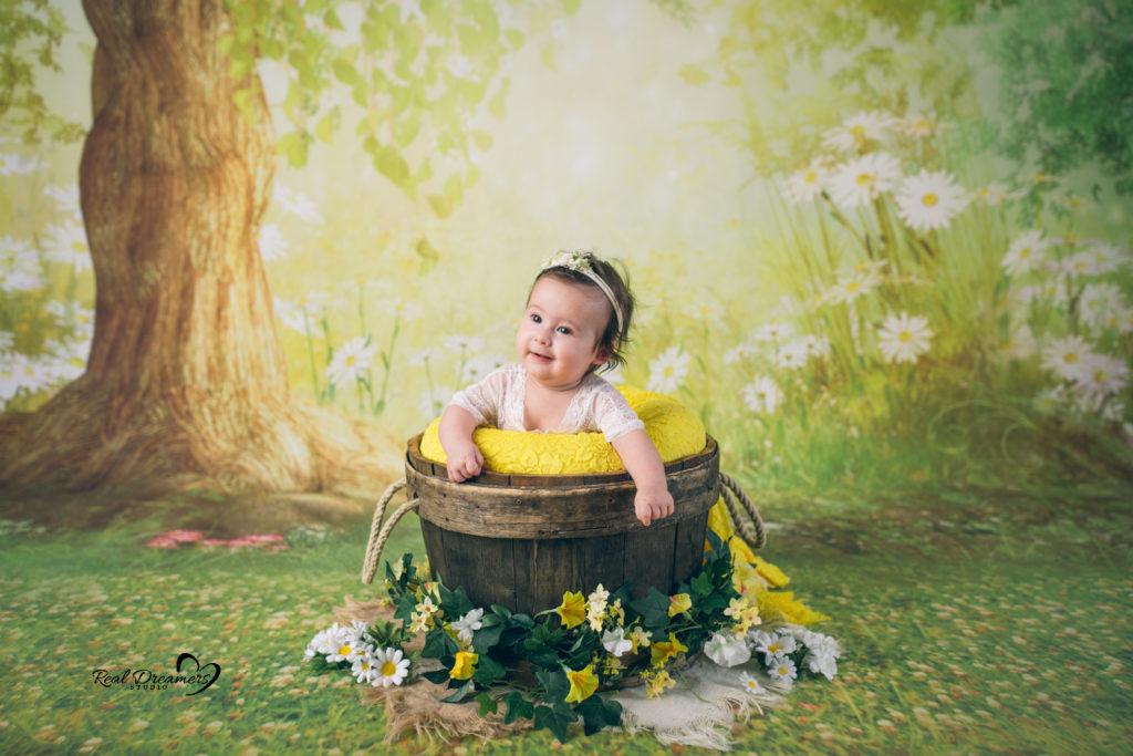 Servizio Fotografico Bebè nel verde