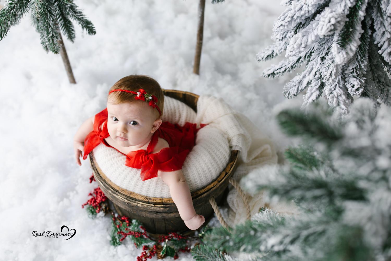 Servizio fotografico bebè neve