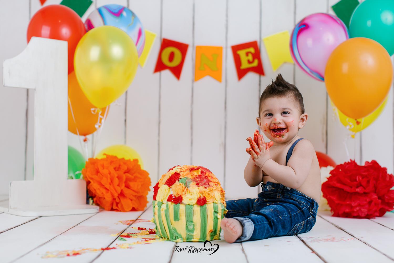 Smash Cake - SErvizio Fotografico Primo Compleanno Torta