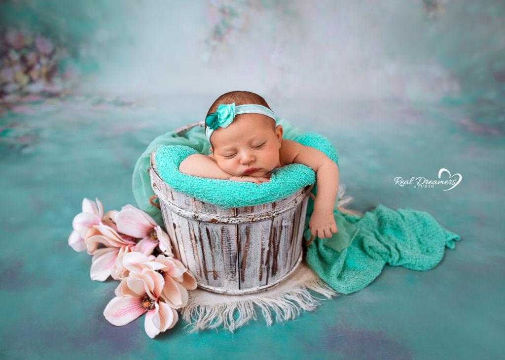 fotografia - newborn - neonata fiori