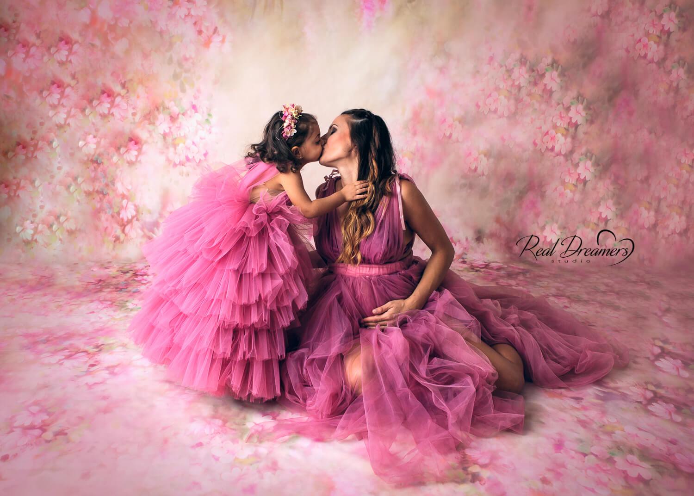 Servizio Fotografico Famiglia - Abito rosa tulle