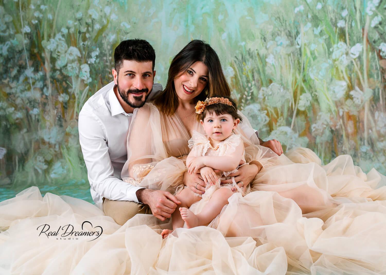 Servizio Fotografico Famiglia - Con bebè abito tulle