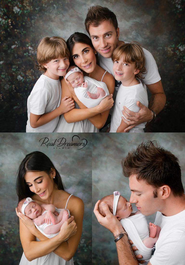Lista Bimbi - Collage neonato con genitori