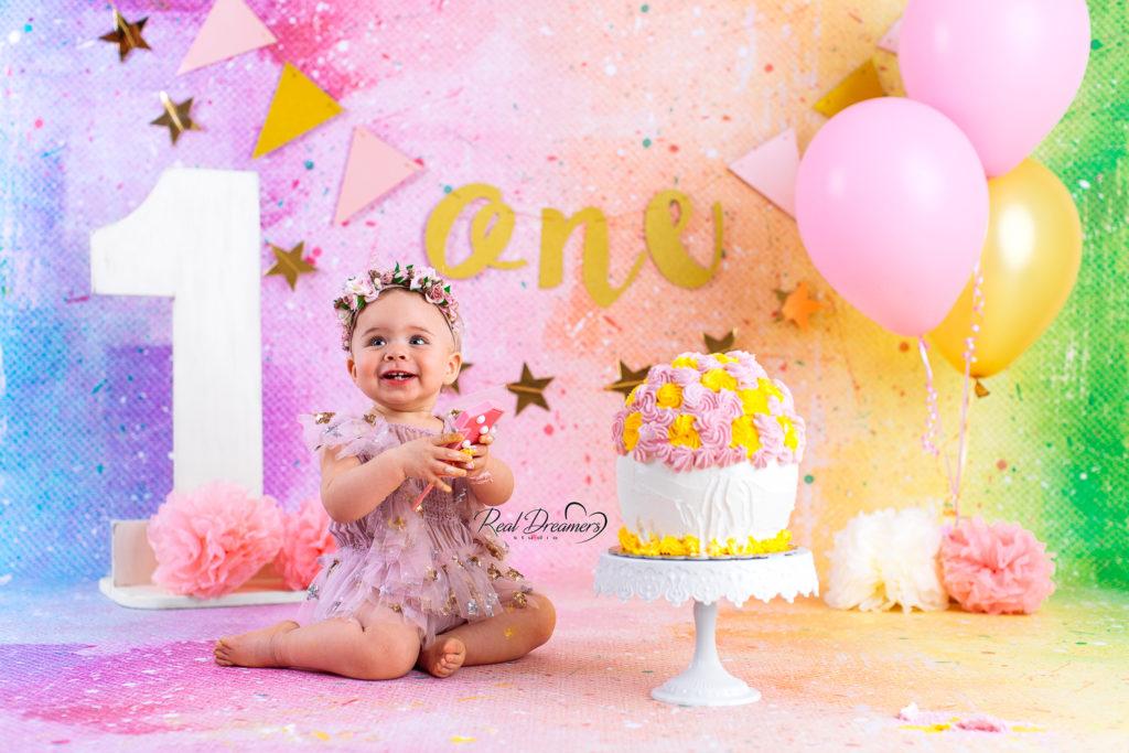 Real Dreamers Studio - servizio - fotografico - Smash Cake - regalo - compleanno