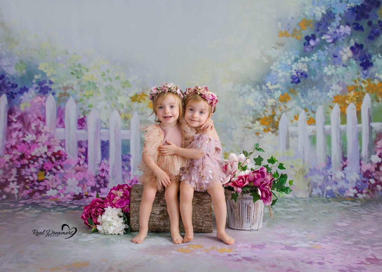 Fotografa Bambini - Real Dreamers Studio gemelle giardino